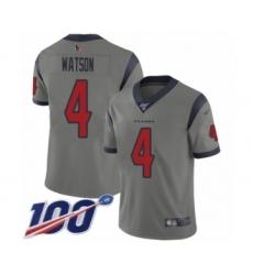 Youth Nike Houston Texans #4 Deshaun Watson Limited Gray Inverted Legend 100th Season NFL Jersey