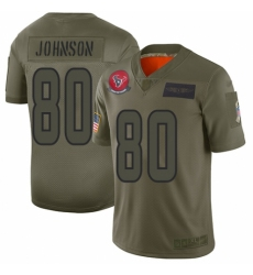 Men's Houston Texans #80 Andre Johnson Limited Camo 2019 Salute to Service Football Jersey