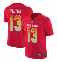 Women's Nike Indianapolis Colts #13 T.Y. Hilton Limited Red 2018 Pro Bowl NFL Jersey