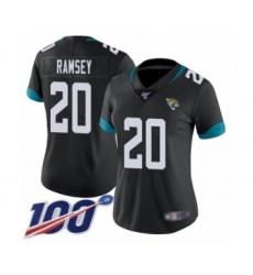 Women's Nike Jacksonville Jaguars #20 Jalen Ramsey Black Team Color Vapor Untouchable Limited Player 100th Season NFL Jersey