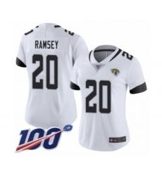 Women's Nike Jacksonville Jaguars #20 Jalen Ramsey White Vapor Untouchable Limited Player 100th Season NFL Jersey