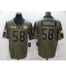 Men's Kansas City Chiefs #58 Derrick Thomas Nike Olive 2021 Salute To Service Limited Player Jersey