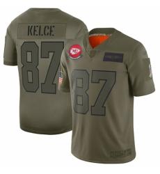 Men's Kansas City Chiefs #87 Travis Kelce Limited Camo 2019 Salute to Service Football Jersey