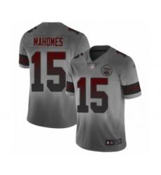 Youth Kansas City Chiefs #15 Patrick Mahomes II Limited Gray City Edition Football Jersey