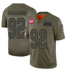 Men's Kansas City Chiefs #92 Tanoh Kpassagnon Limited Camo 2019 Salute to Service Football Jersey